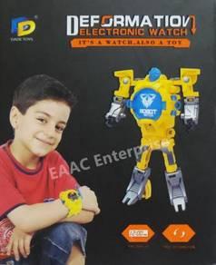 Robot Transformer Kids Digital Watch - White
