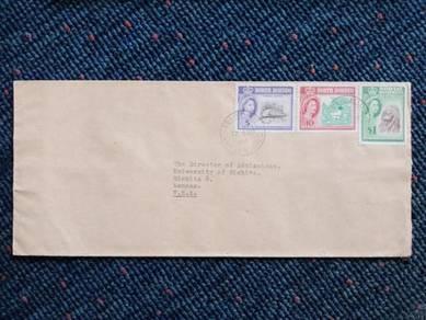 Cover North Borneo TRAIN MAIL USA 1962 A239
