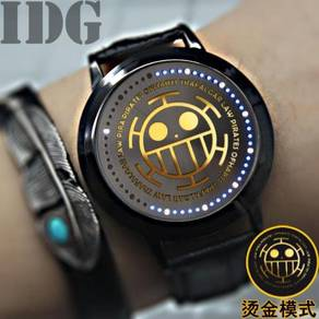 One piece luffy law zoro hot stamping Led watches