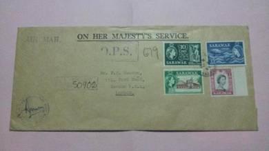 Antik Cover SARAWAK OHMS 1964 No 469 RARE