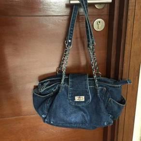 Dark Blue Denim Shoulder Bag