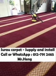 Carpet specislist pasang karpet Surau Masjid HI83