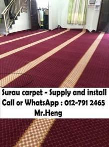Carpet specislist pasang karpet Surau Masjid TU91