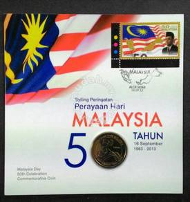 Coin card 50 years Malaysia day 2013