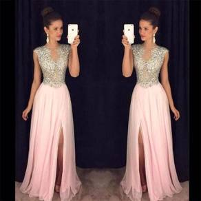 Diamond wedding prom dress gown pink blue RBP0706