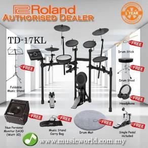 Roland td-17kl digital drum v drum bundle with amp