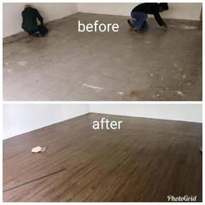 Vinyl Floor Lantai Timber Laminate PVC Floor s52