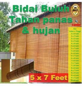 BIDAI BULUH 5 x 7 kaki = 5 '(W) x 7' (H)