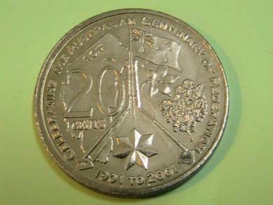 20 Cents 2001 - Australia (D)
