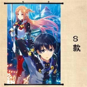 SAO Asuna kirito Wall scroll