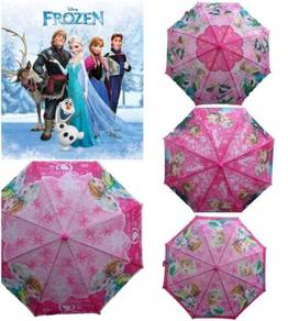 Kids Cartoon Long Payung Umbrella Frozen Elsa Anna