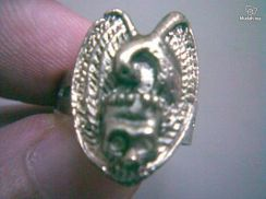 ABRSMF-E002 Style Eagle with Skull Silver Met Ring