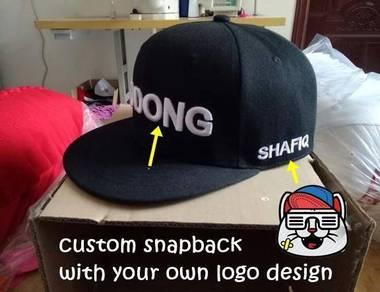 Custom snapback fullcap Sulam Topi Embroidery Cap