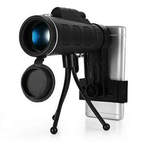 Compact 40x60 monocular with mobile holder