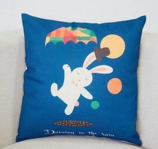 Rabbit pillow case cushion cover chair sofa office