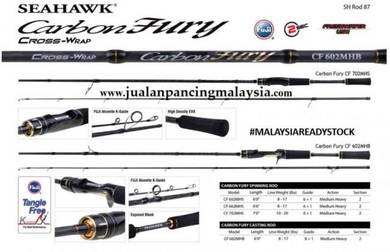 Seahawk carbon fury cross wrap rod