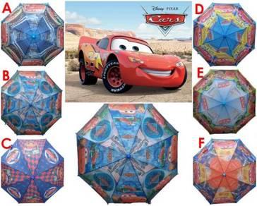 Kids Cartoon Long Payung Umbrella Cars Mcqueen