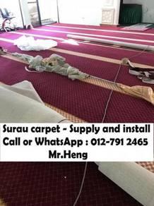 Classic Merah Carpet Surau Siap PasangYZ46