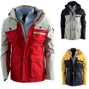 J99307 Tactical Army Hooded Pocket Men Coat Jacket