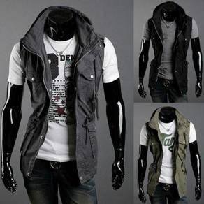 J18550 Military Black Vest Pocket Tactical Jacket