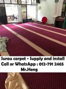 Mosque decor carpet we save you karpet Surau TA93