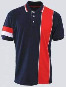 Baju Tshirt kolar POLO Lacoste Navy Blue/Red