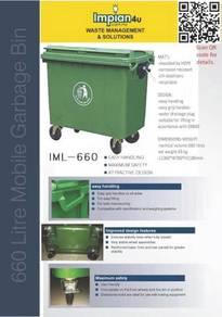 Tong sampah beroda mobile garbage bin harga kilang