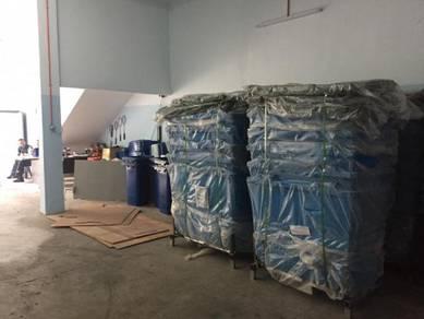 Galvanized steel bin
