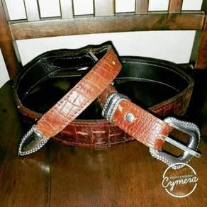 Belt Alligator Leather Unbrand