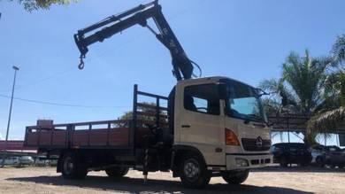 Hino 500 wooden cargo crane isuzu euro enjin