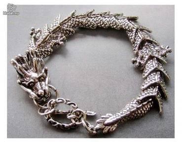 ABBSM-B001 Exquisite Silver Metal Dragon Bracelet