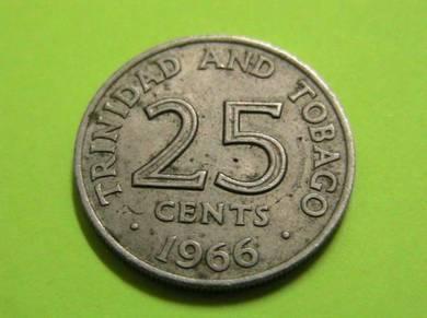 25 Cents Trinidad and Tobago 1966