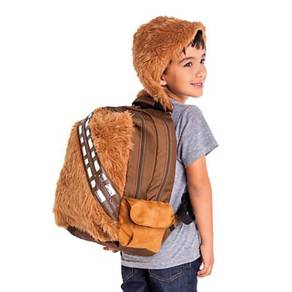 Star wars furry plush Chewbacca backpack