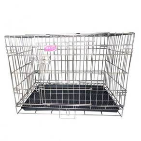 Foldable Stainless Steel Cage 76W x 48D x 51.5H CM