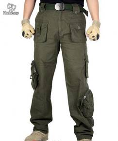 Army camouflage Pockets long Pants extra size