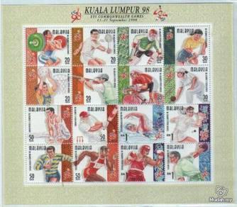 Miniature Sheet Commonwealth Games Malaysia 1998