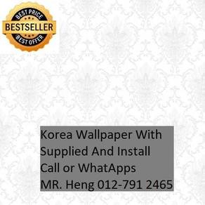 Beautiful In Wall paper with Installation hj85528