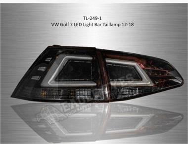 Vw golf 7 led lights bar tail lamp 12- 18