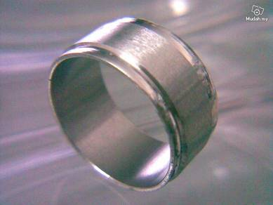 ABRSS-U005 Silver Exquisite Over Wide Unique Ring