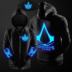 Assassin creed sweater hoddie glow in light