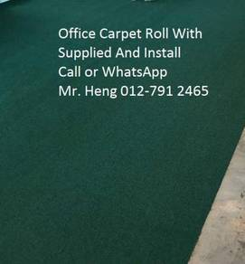 Natural Office Carpet Roll with install fh748596