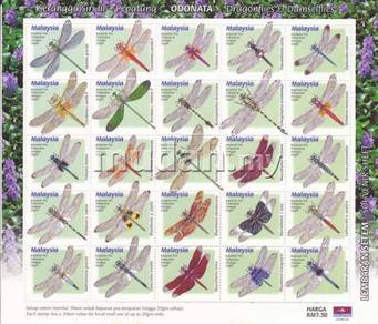 Mint Stamp Sheet Dragonfly Proferate Malaysia 2000