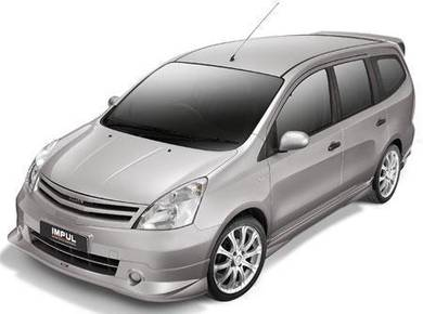 Nissan livina impul front grill with paint bodykit