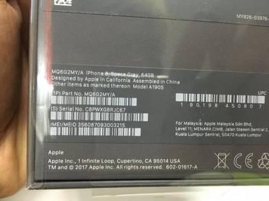 IPHONE 8 - SEAL IN BOX 64gb (apple malaysia) seal