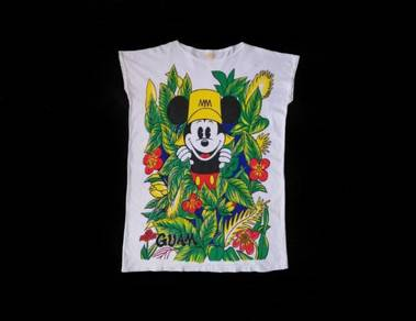 Vintage Mickey Guam Usa Sleeve Less T-Shirt