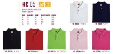 T Shirt Collar 60% Cotton 40% Pol Plain Fem HC05XX