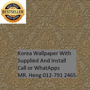 PVC Vinyl Wall paper with Expert Install hgjk7485