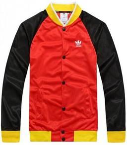 Red Mixed Color Baseball Sweater Varsity Jacket