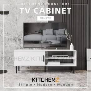 4ft TV cabinet- warna Putih saja