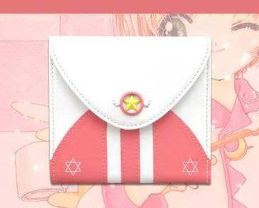 Cardcaptor sakura pink white purse wallet